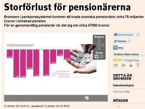storförlust för pensionärerna