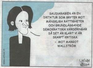 M kritiska mot Margot Wallström