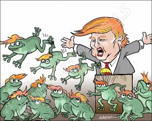 Satir. Donald Trump - grodornas mästare.